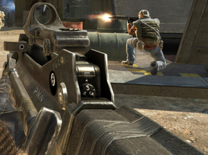 Call of Duty: Black Ops - Players can customize their weaponry in the game, as seen with this customized FAMAS.