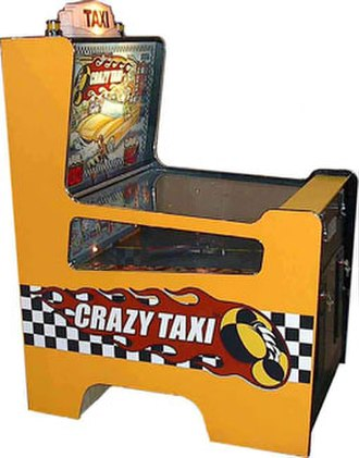 Crazy Taxi - The Crazy Taxi Redemption Game arcade cabinet