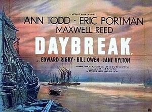 Daybreak (1948 film) - UK release poster