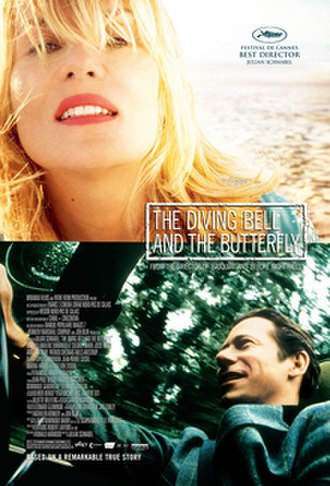The Diving Bell and the Butterfly (film) - Theatrical release poster