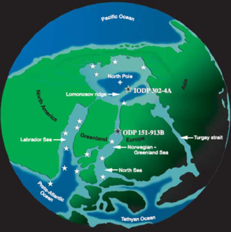Azolla event - The continental configuration during the Early Eocene resulted in an isolated Arctic basin.