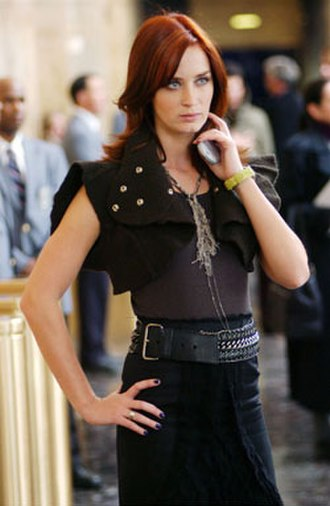The Devil Wears Prada (film) - Emily Blunt in the outfit Field created for her character.