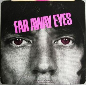 Far Away Eyes - Image: Far Away Eyes Rolling Stones back cover Miss You
