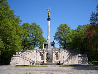 Luitpold, Prince Regent of Bavaria - Angel of Peace in the Prinzregentenstrasse in Munich, erected as antipole to the Berlin Victory Column