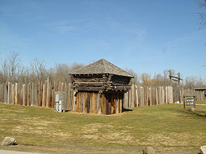 Fort Koshkonong - Replica of the fort. It is not located at the original location of the fort.