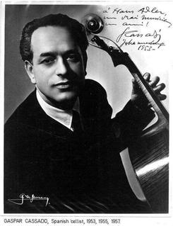 Gaspar Cassadó Spanish cellist and composer