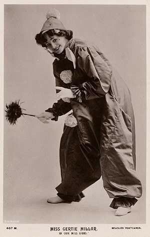 Gertie Millar - As Pierrot in Our Miss Gibbs