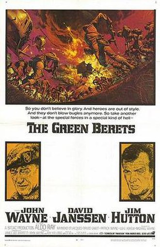 The Green Berets (film) - Theatrical release poster by Frank McCarthy