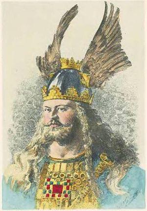 Oddrúnargrátr - Gunnarr, the object of Oddrún's forbidden love.