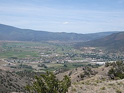 Gypsum, Colorado, from the hills north of town