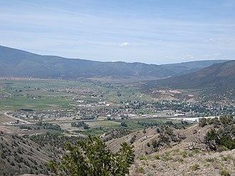 Gypsum, Colorado - Gypsum, Colorado, from the hills north of town
