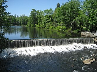 Townsend Harbor, Massachusetts - Image: Harbor Pond Dam at Townsend Harbor, MA