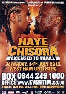David Haye vs. Derek Chisora Boxing competition