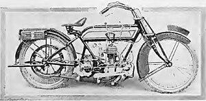 Hazlewoods Limited - Image: Hazlewood Single Cylinder Motorcycle 1914