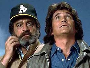 Victor French and Michael Landon.