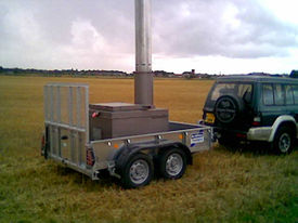 An example of a low capacity, mobile incinerator.
