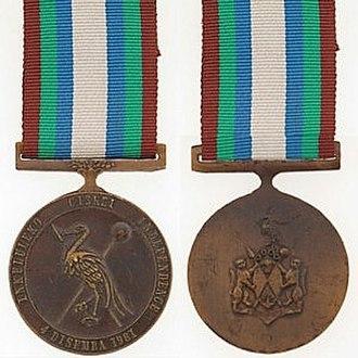 Independence Medal (Ciskei) - Image: Independence Medal (Ciskei)