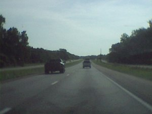 Interstate 44 in Missouri - I-44 near the west end of its concurrency with U.S. 50 in Franklin County.