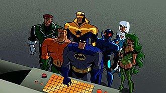 Justice League International - The JLI in Batman: The Brave and the Bold.