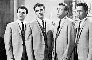 Jake Hess - Jake Hess (second right) with the Imperials, 1966