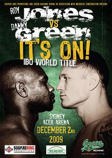 Danny Green vs. Roy Jones Jr. Boxing competition