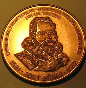 Jost Bürgi - Medal issued on the 350th anniversary of his death
