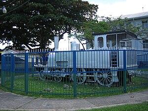 Natal Railway 4-4-0T Perseverance - Preserved Trinidad Government Railway engine