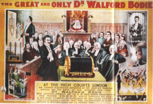 Walford Bodie - Lithograph of 1909 trial