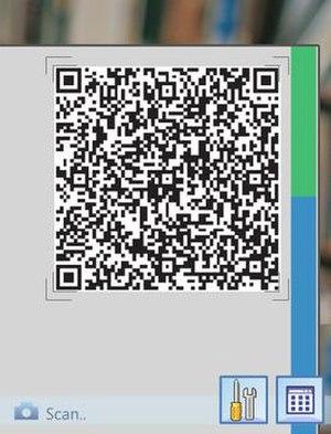 Windows Live Barcode - Prototype screenshot of Windows Live Barcode on Windows Mobile