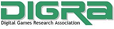 """DIGRA"" in stylized green font with words ""Digital Games Research Association"" underneath"