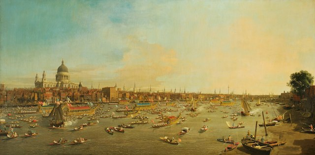 London, The Thames on Lord Mayor%27s Day, Antonio Canaletto