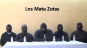Jalisco New Generation Cartel - CJNG members claiming responsibility for killing Zetas.