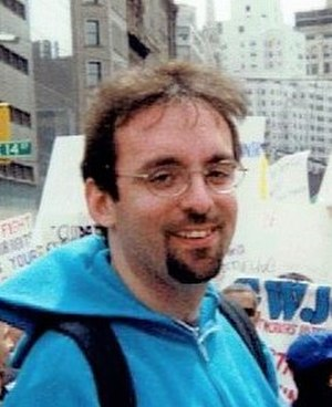 Michael Hauben - May Day 2000 New York City