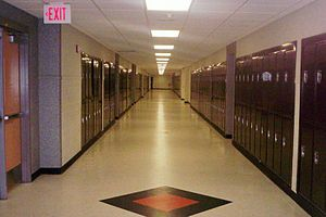 Middletown High School North - A renovated hallway circa 2007