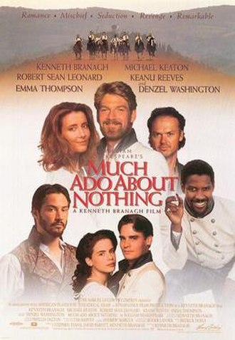Much Ado About Nothing (1993 film) - Image: Much ado about nothing movie poster