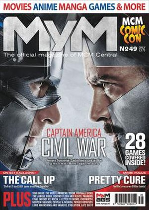 MyM - Image: My M magazine Issue 49 cover featuring Captain America Civil War