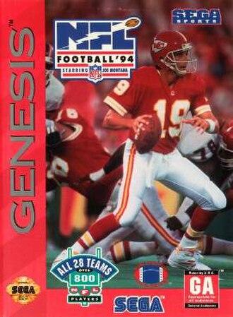 NFL Football '94 Starring Joe Montana - North American cover art