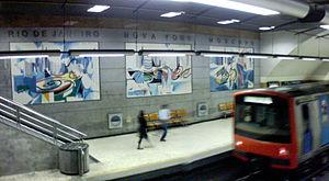 Nadir Afonso - Tile panels on the Lisbon Metro (1998)