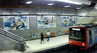 Nadir Afonso - Tile panels on the Lisbon Metro (1998)
