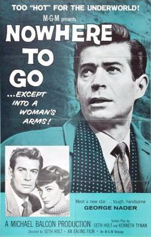 Nowhere to Go (1958 film) - Theatrical release poster