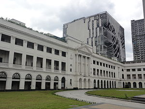Malate, Manila - Saint La Salle Hall and Henry Sy, Sr. Building of the De La Salle University.