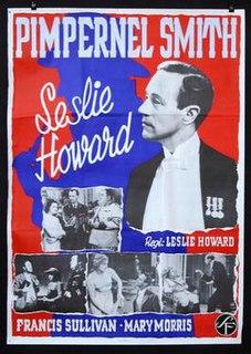 "<i>""Pimpernel"" Smith</i> 1941 anti-Nazi thriller movie directed by Leslie Howard"