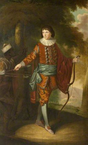 William Bell (artist) - Portrait of John Delaval (1756–1775) as an archer, painted by William Bell in 1770