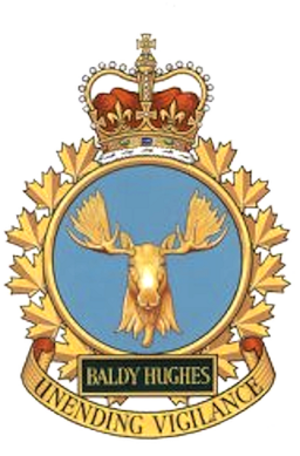 CFS Baldy Hughes - Station badge