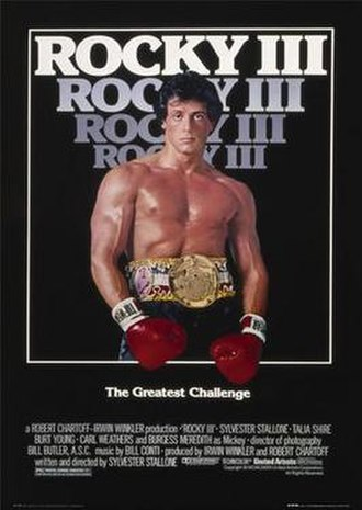 Rocky III - Theatrical release poster