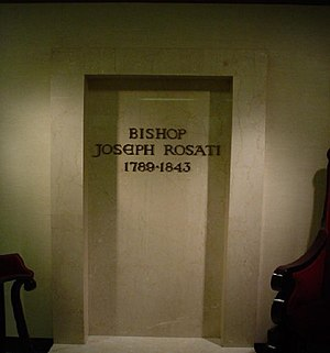 Joseph Rosati - The final resting place of Bishop Rosati, at the Old Cathedral in St. Louis, Missouri.