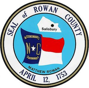 Rowan County, North Carolina - Image: Rowan County nc seal