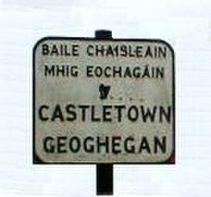 Castletown Geoghegan - Image: Sign Castletown Geoghegan