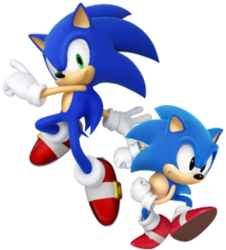 Sonic the Hedgehog (character) - Modern and Classic Sonic designs as they appear in Sonic Generations