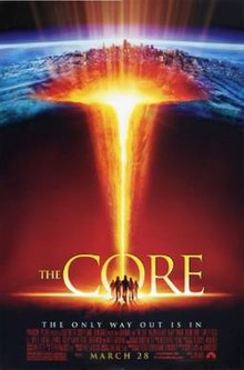 Promotional poster for the movie The Core